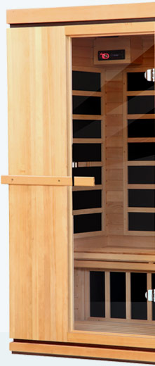 cabine de sauna infrarouge palazzo pour 2 personnes. Black Bedroom Furniture Sets. Home Design Ideas